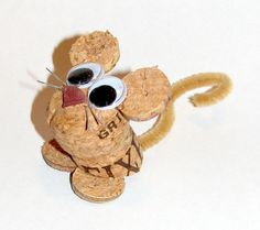 mouse figurine/ornament made from recycled corks. $5.00, via Etsy.