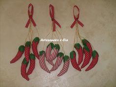 Artesanato e Cia : Pimentas em tecido ou feltro (penquinhas)-molde