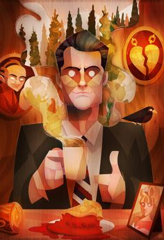 Damn Good Coffee Twin Peaks Fan Art by lerms Art And Illustration, Illustrations Posters, David Lynch Twin Peaks, Fan Art, Design Graphique, Design Art, Grid Design, Pop Culture, Cool Art