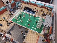 Soccer Stadium_14 014 | by Quimby2102 Lego Soccer, Lego Football, Lego Sports, Soccer Stadium, Soccer Fans, Basketball Court, Legos, Lincoln, Around The Worlds