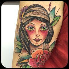Tattoo tatuaggio Traditional girl