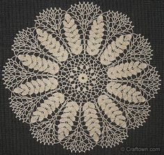 Lace wheat doily, free crochet pattern. Great for a skirt and top!