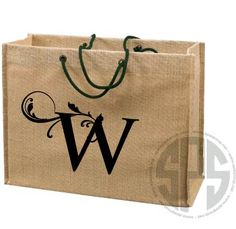 Jute Tote with Braided Handles - Jute Gift Totes