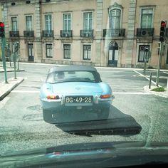 #Jaguar #TypeE #convertible #blue #lisbon #lisboa #portugal