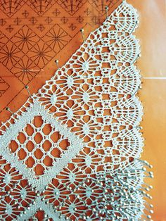 "Bobbin lace (Proof we didn't ""evolve"" from monkeys !!) Our ancestors were brilliant, and made lace by hand, which is utterly astounding. (comment: sandpipersong)"