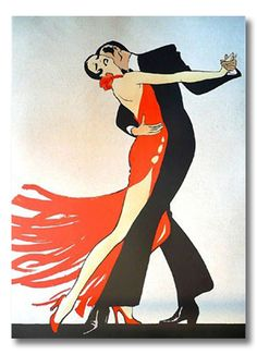Tango-inspired illustration by René Gruau, Dior artist extraordinaire. Art And Illustration, Art Deco Posters, Vintage Posters, Art Deco Artwork, Art Deco Paintings, Painting Art, Rene Gruau, Kunst Poster, Oeuvre D'art