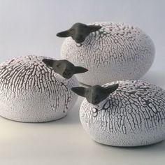 Wheel Thrown and sculptured sheeps. Link to webshop in profile. #keramik #skulptur #handgjort #får #ceramics #sculpture #handmade #sheep