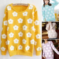 2014 New Lovely Women Round Neck Long Sleeve Pullover Coat Jumper Sweatershirt Tracksuit