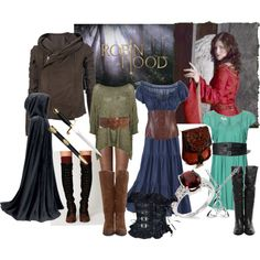 """My first wardrobe plot for Maid Marian from the BBC's """"Robin Hood"""" - Bri (b-scottyer on Polyvore)"""