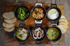 ストウブで「カマンベールチーズフォンデュとアヒージョ色々」 | ジュンジュンの「おいしいモン」