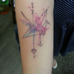 origami travel tattoo - Google Search