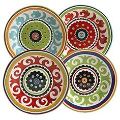 Suzani Appetizer Plates from Pier 1 - $3.75 each.