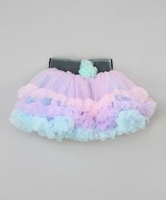 Look at this #zulilyfind! Pastel Lavender & Turquoise Tutu - Infant, Toddler & Girls by Tutus by Tutu AND Lulu #zulilyfinds