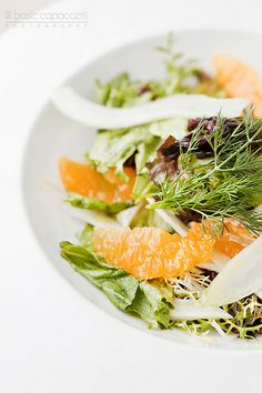 Healthy salad with fennel and oranges