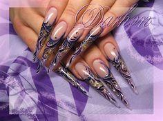 violet branches by Darhon - Nail Art Gallery nailartgallery.nailsmag.com by Nails Magazine www.nailsmag.com #nailart