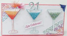 Chloes creative cards stamps cocktails