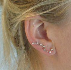Constellation Ear Pin Silver Earrings Big Dipper Ear Climber. $25.00 USD, via Etsy.  WAAAANNNTTT
