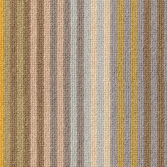 Designed in Britain by Margo Selby, the Margo Selby Stripe Sun Seasalter is a vibrant and happy striped carpet in yellow and grey. Perfect as a made to measure rug or runner. Striped Carpets, Alternative Flooring, Vibrant Colors, Colours, Wool Carpet, Stripes, Rugs, Landing, Britain