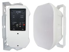 "652BTW Silver Ticket Products 6.5"" Active Bluetooth Indoor / Outdoor Patio Speaker Pair (White)"
