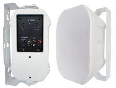"652BTW Silver Ticket Products 6.5"" Active Bluetooth Indoor / Outdoor Patio Speaker Pair (White)"