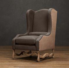 Os De Mouton Wing Chair