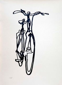 Bicycle Art  Print  Crescent Bike on Nideggen by bicyclepaintings
