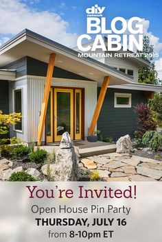 Save the date! You're invited to a virtual open house Thursday, July 16 at 8 pm EST. Chat with DIY Network hosts as we pin our favorite rooms from this year's Blog Cabin.