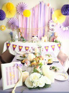 ラプンツェルのお誕生日パーティー – PINKMINT Rapunzel Birthday Party, Tangled Party, Disney Princess Party, Girl Birthday, Birthday Parties, Pink Parties, Birthday Decorations, Wedding Cakes, Baby Shower