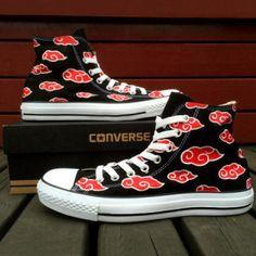 Naruto Akatsuki Converse Shoes Shut Up And Take My Yen : Anime & Gaming Merchandise