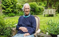 Anne Olivier Bell - the last of the 'Bloomsberries' - at her home in Sussex