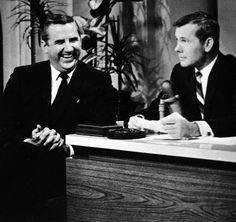Back when the Tonight Show was good...Johnny Carson and Ed McMahon