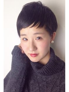 【2016年冬】【CLEAR】黒髪ベリーショート×ベビーバング/CLEAR of hair 栄南店【クリアーオブヘアーサカエミナミテン】のヘアスタイル