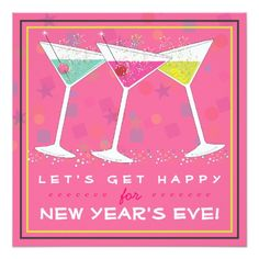 get happy on new years eve bright cocktail party invitation newyears party invites
