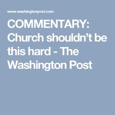COMMENTARY: Church s
