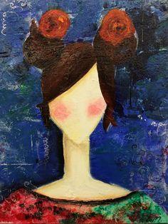 Mixed media on canvas: Harajuku Girls, Mixed Media Canvas, Acrylic Paintings, Artist, Image, Artists