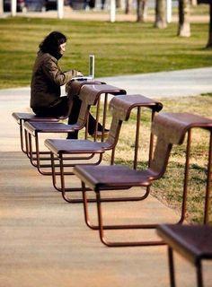 Urban Furniture, Street Furniture, Furniture Design, School Furniture, Luxury Furniture, Urban Landscape, Landscape Design, Landscape Artwork, Outdoor Seating