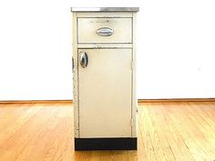 Sale Vintage Kitchen Cabinet Enamel Kitchen Free Standing Mid Century Cabinet Porcelain Enamel