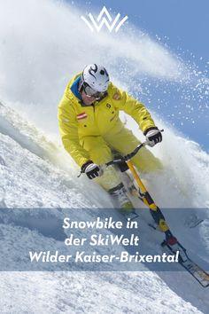 Snowbike in Tirol & Österreich Gaudi, Mountainbiking, Wilder Kaiser, Wwi, Mount Everest, Mountains, Nature, Travel, Best Ski Resorts