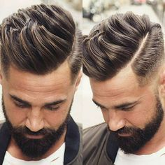 Textured Quiff with Low Fade and Part