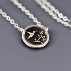 Tiny Hummingbird Necklace by Lisa Hopkins Design