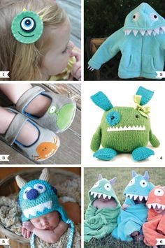 Adorable monster accessories for little ones!
