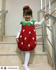 """#Repost @monicocuk (@get_repost)  ・・・  Ayşe'nin """"moni""""si  #cilekkostum #strawberry #strawberrycostume #birthdayparty #happybirthday #firstbirthday #balkabağı #yerlimalı #doğumgünü #stüdyoçekim #bebekçekimi #biryaş #doğumgünü #mutluyıllar #çocuk #bebek #kostüm #costume"""