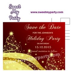 christmas party save the date cards