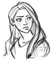 Sketchy Rapunzel by *davidkawena on deviantART