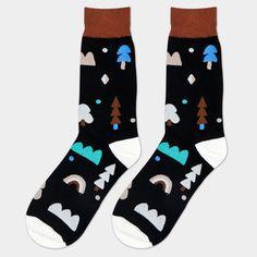 Adirondack Blue Crew Socks