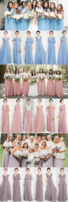 bridesmaid dresses with trending colors for 2018 #bridalparty #bridesmaiddresses #bridesmaiddress #weddingcolors