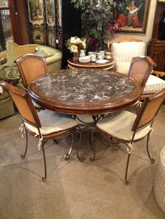 #NEW #furniture just came in at #DesignConsign! This beautifully #designed #diningtable with #granitetop & four #chairs would look fabulous in your #home! Stop in today to come check it out. #Shop to support #domesticviolence victims!  #Consignment #Shopping #Furniture #Donate #HomeDecor #InteriorDesign  For more information visit www.designconsignnj.com
