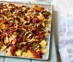 Spicy beef nachos | ASDA Recipes ..I love this dish so much, it's a real family favourite of ours, we first had it at the YeeHaw country and western music festival, it was so welcome in the cold and rain!