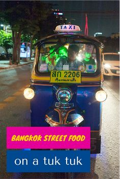 An amazing street food tour of Bangkok on the back of a tuk tuk discovering hidden gems and night time secrets!