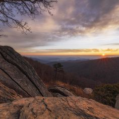 #Sunrise rocks at #Shenandoah National Park in #Virginia! Pictured here is Hazel Mountain Overlook -- a favorite @shenandoahnps spot for witnessing nature's daily grand show. Photo by N. Lewis, #NationalPark Service.